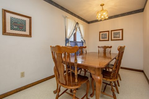 Family Dining Area in 3 bedroom vacation home - A View of Paradise