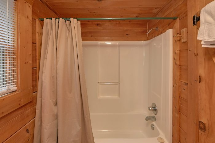 Private Bathroom with Tub/shower and Jacuzzi - A Woodland Hideaway
