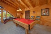 Luxury Cabin with Pool Table in Game Room