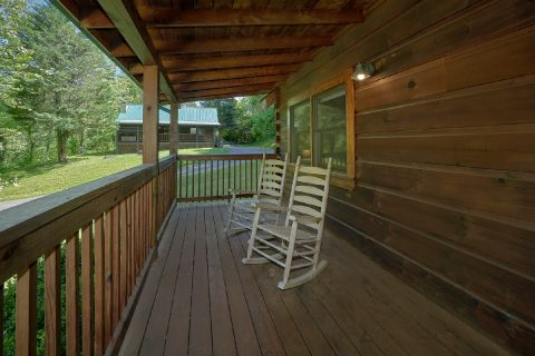2 bedroom cabin with rocking chairs on porch - Absolute Heaven