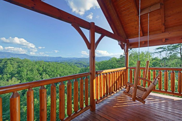 Cabin with Porch Swing - Adventure Lodge