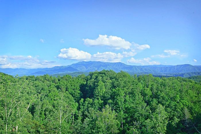 Overlook of the Mountains from the Deck - Adventure Lodge