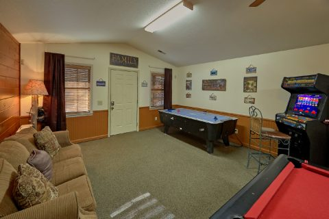 Large Game Room with Pool Table 4 Bedroom Cabin - Adventure Lodge Gatlinburg