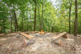 Large Fire pit at 7 Bedroom cabin