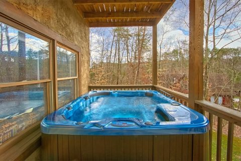Spacious Cabin with a Spacious Outdoor Hot Tub - Alexander the Great