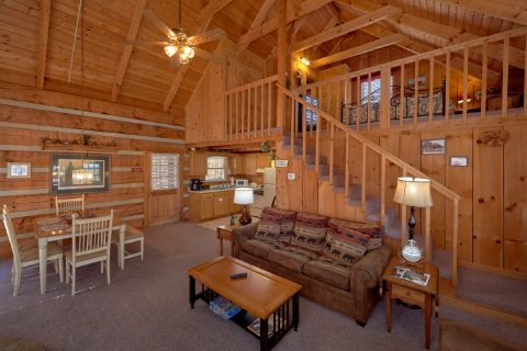Rustic cabin with 2 King beds and sleeper sofa - All By Grace
