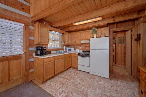 Full kitchen in 1 bedroom cabin - All By Grace