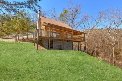 Wears Valley Cabin with Wooded View and Hot Tub - All By Grace