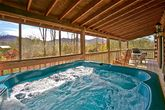 Cabin with Hot Tub on covered deck