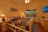 Large Master Bedroom with King Bed and Cable TV