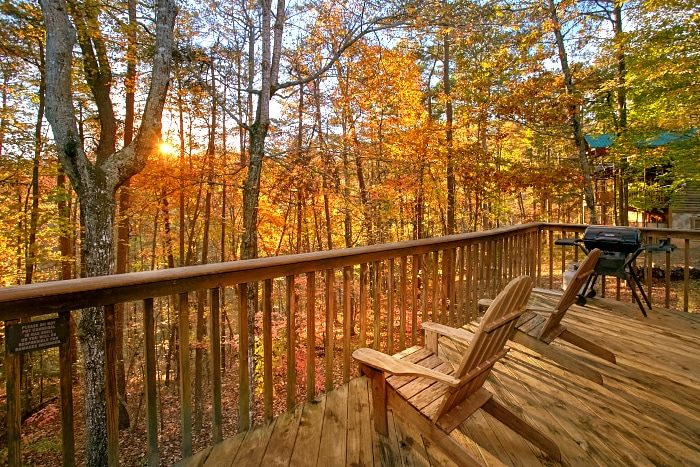 2 Bedroom Cabin with Wooded View & Private Deck - Alpine Retreat