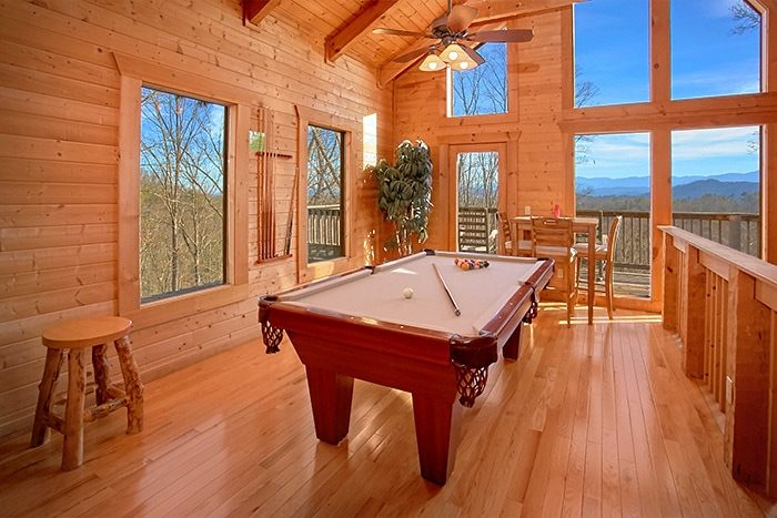 Premium 2 Bedroom Cabin with Pool Table - Altitude Adjustment