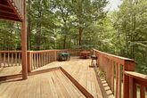 Cabin with Extended Deck and PIcnic Table