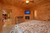 King Bedroom with Fireplace, TV and Private Bath
