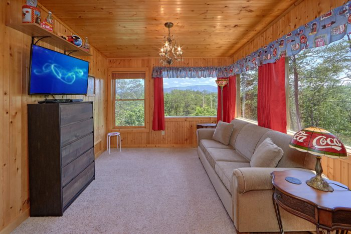 Master Suite with King Bed, Sleeper Sofa and TV - American Dream Lodge