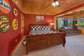 King Bedroom with Sleeper Sofa and TV Area