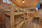 6 Bedroom Cabin with 2 sets of Queen Bunk Beds