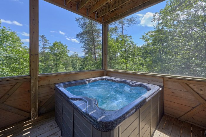 6 Bedroom Cabin with Hot Tub on Private Deck - American Dream Lodge
