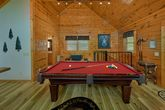 1 bedroom cabin with pool table and arcade game