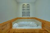 Jacuzzi Tub in Master bedroom at honeymoon cabin