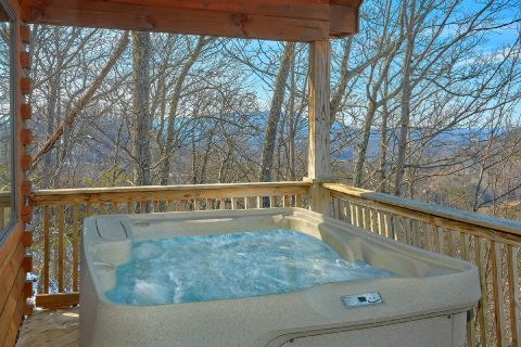 Private Hot Tub with Views Honeymoon Cabin - Angels Attic