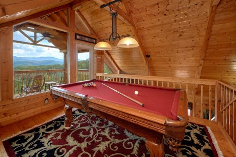 2 Bedroom Cabin with Pool Table in Game Loft - Angel's Landing