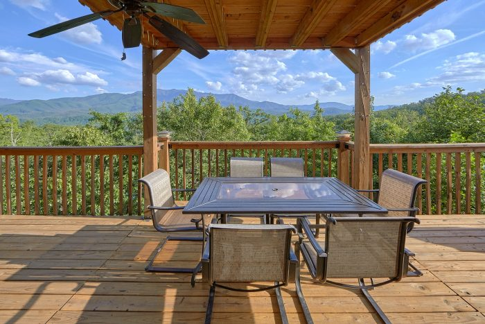 Views of the Smoky Mountains from deck at cabin - Angel's Landing