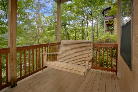 1 bedroom cabin with porch swing and hot tub - Angel's Ridge