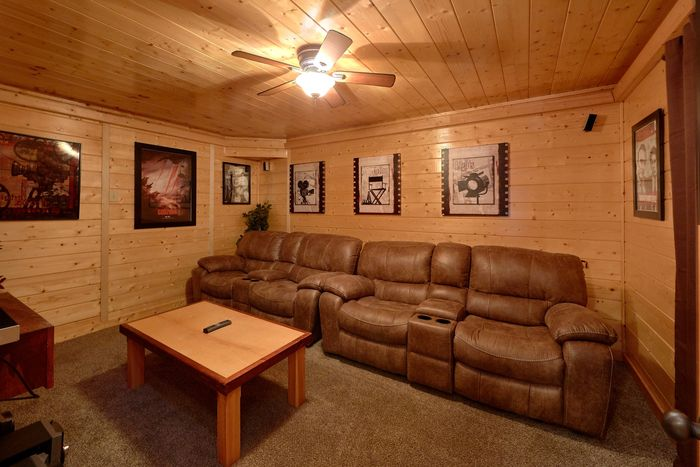 Theater Room in Wears Valley Luxury Cabin - April's Diamond