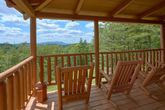 Cabin with Rocking Chair, Deck and Mountain View