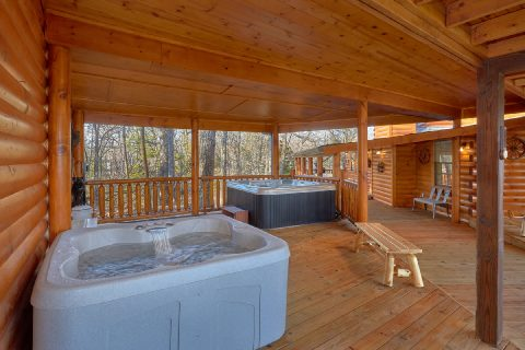 Private Cabin with 2 Hot Tubs - Bar Mountain