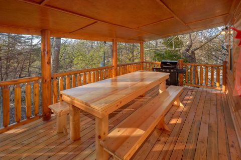 Gatlinburg Cabin with Covered Picnic Table - Bar Mountain