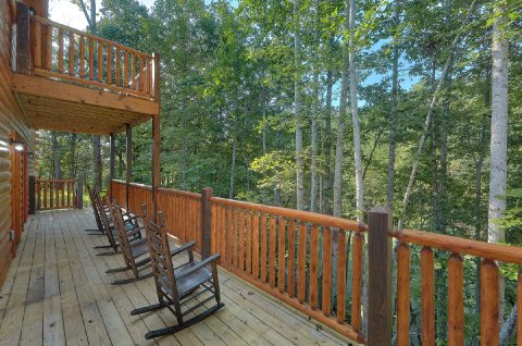Private Deck with Rocking Chairs - Bar Mountain II