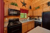 Fully Stocked Kitchen in 2 bedroom cabin