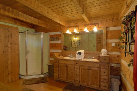 Master Bathroom with Shower and Jacuzzi - Bear Cove Escape