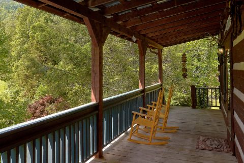 Large Deck with Wooded View - Bear Cove Escape