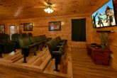 Large Theater Room in 6 bedroom cabin