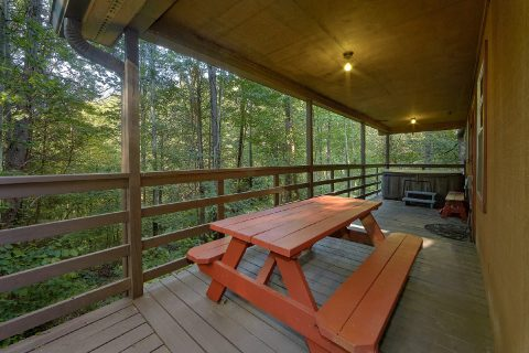 Covered Deck with Picnic Table - Bear Creek Hollow