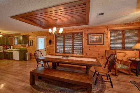Large Dining Room with Fireplace Gatlinburg - Bear Crossing