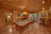 Bottom Floor Game Room with Pool Table