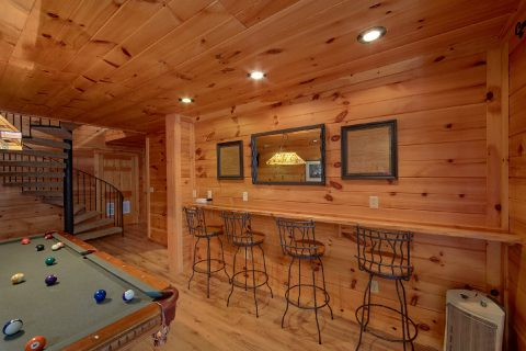 Bar with Stools in Game Room - Bear Crossing