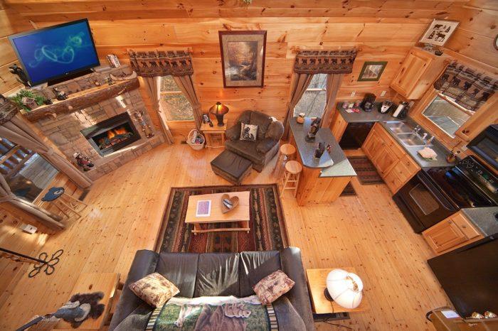 View from King Bedroom in Loft - Bear Footin In The Smokies