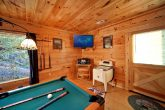 Pool Table on Bottom Level in Game Room
