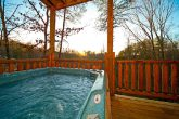 Hot Tub in Smoky Mountain Cabin Rental