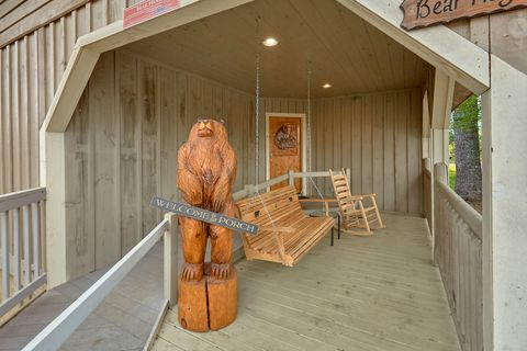 Swing and Rocking Chairs on Cover Deck - Bear Hugs
