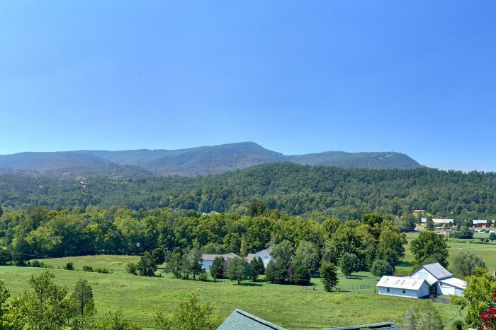 Beautiful Views from 3 Bedroom Cabin porch - Bear Mountain Lodge