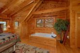 Private Jacuzzi Tub in Cabin Master Bedroom