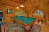 Game Room with pool table in 3 bedroom cabin