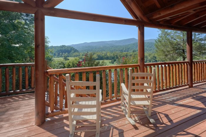 Views of Wears Valley from 3 Bedroom Cabin - Bear Mountain Lodge