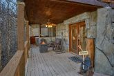 Gatlinburg cabin with fire pit and wooded view